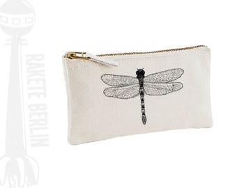 pencil case 'dragonfly - drawing'