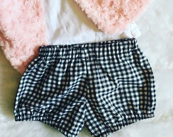bloomers black and white gingham, 6months, 9months and daughter 4 years