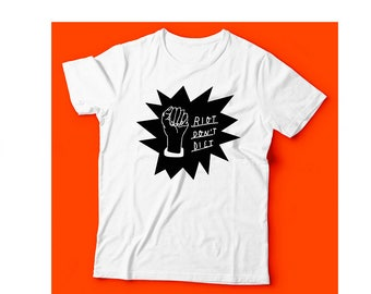 Riot Don't Diet - T-Shirt (black)