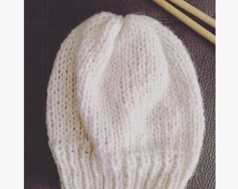 White Winter Hat