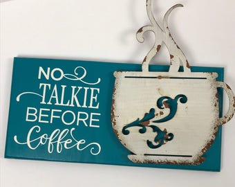 Coffee Sign, Coffee Sign With Metal Cup, Coffee Shop Sign, Coffee Wall Decor