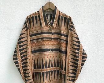 "20% OFF Vintage Christian Aujard Button Shirt / Classic Design / Christian Aujard Clothing / Designer Shirt / Rare / Armpit 22"""