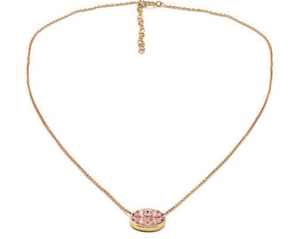 Tousi Jewelers Morganite Necklace -14k Solid Yellow Gold Pendant- Nice Pink Morganite Gift for Her