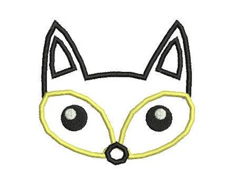 4x4 Fox Machine Applique Design Animals Applique embroidery design for for INSTANT DOWNLOAD Embroidery File pes,dst,xxx,jef,vp3,vip,sew