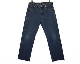 Size 32 501 Vintage Levis, Size 32 vintage 501s, Dark Wash 501s, 501 Levis Size 32, Vintage 501 Levis, Waist 32 Levis, Hank and Olive, Jeans