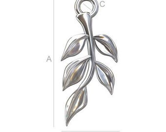 Charm Branch with leaves Silver 925