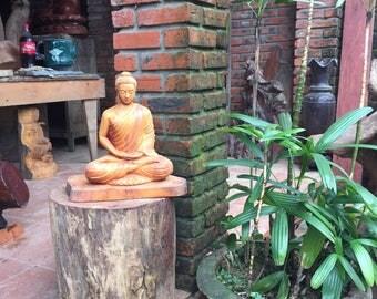 Wooden Buddha Statue: Sakya Buddha