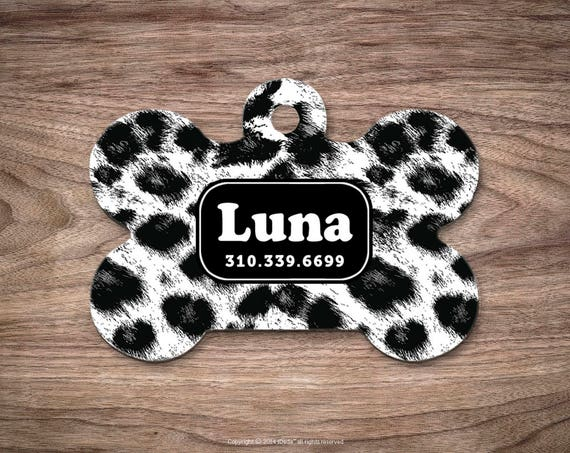Leopard Dog Tags Dog Tag for Collar Cute Pet ID Tag Custom Dog Name Tag Puppy Tag Personalized Dog ID Tag Custom Pet Tag for Dog