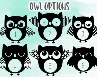 Owl Vinyl Decal Etsy - Owl custom vinyl decals for car