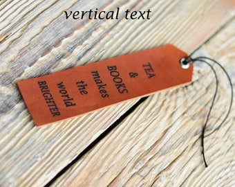 Leather bookmark, Personalized bookmark, Bookmark, Engraved bookmark, Custom bookmark, Corporate gift, Gift for her, Gift for him