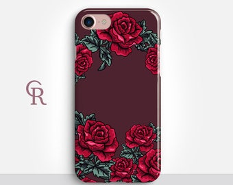 Roses iPhone 7 Plus Case For iPhone 8 iPhone 8 Plus - iPhone X - iPhone 7 Plus - iPhone 6 - iPhone 6S - iPhone SE - Samsung S8 - iPhone 5