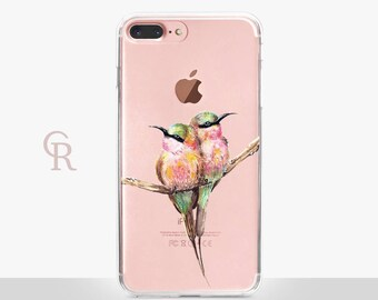 Hummingbird iPhone 8 Case - Clear Case - For iPhone 8 - iPhone X - iPhone 7 Plus - iPhone 6 - iPhone 6S - iPhone SE Transparent - Samsung S8