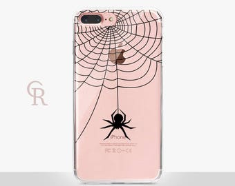Spider Clear Phone Case For iPhone 8 iPhone 8 Plus iPhone X Phone 7 Plus iPhone 6 iPhone 6S  iPhone SE Samsung S8 iPhone 5 Transparent