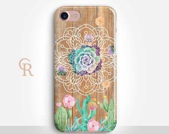 Succulent Phone Case For iPhone 8 iPhone 8 Plus - iPhone X - iPhone 7 Plus - iPhone 6 - iPhone 6S - iPhone SE - Samsung S8 - iPhone 5