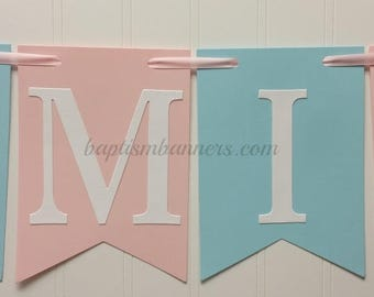 Mi Bautizo Banners-Baptism Banners-Baptism Party Decorations-Baptism Ceremony-Nuestro Bautizo-Photo Backdrops-Baptism Signs