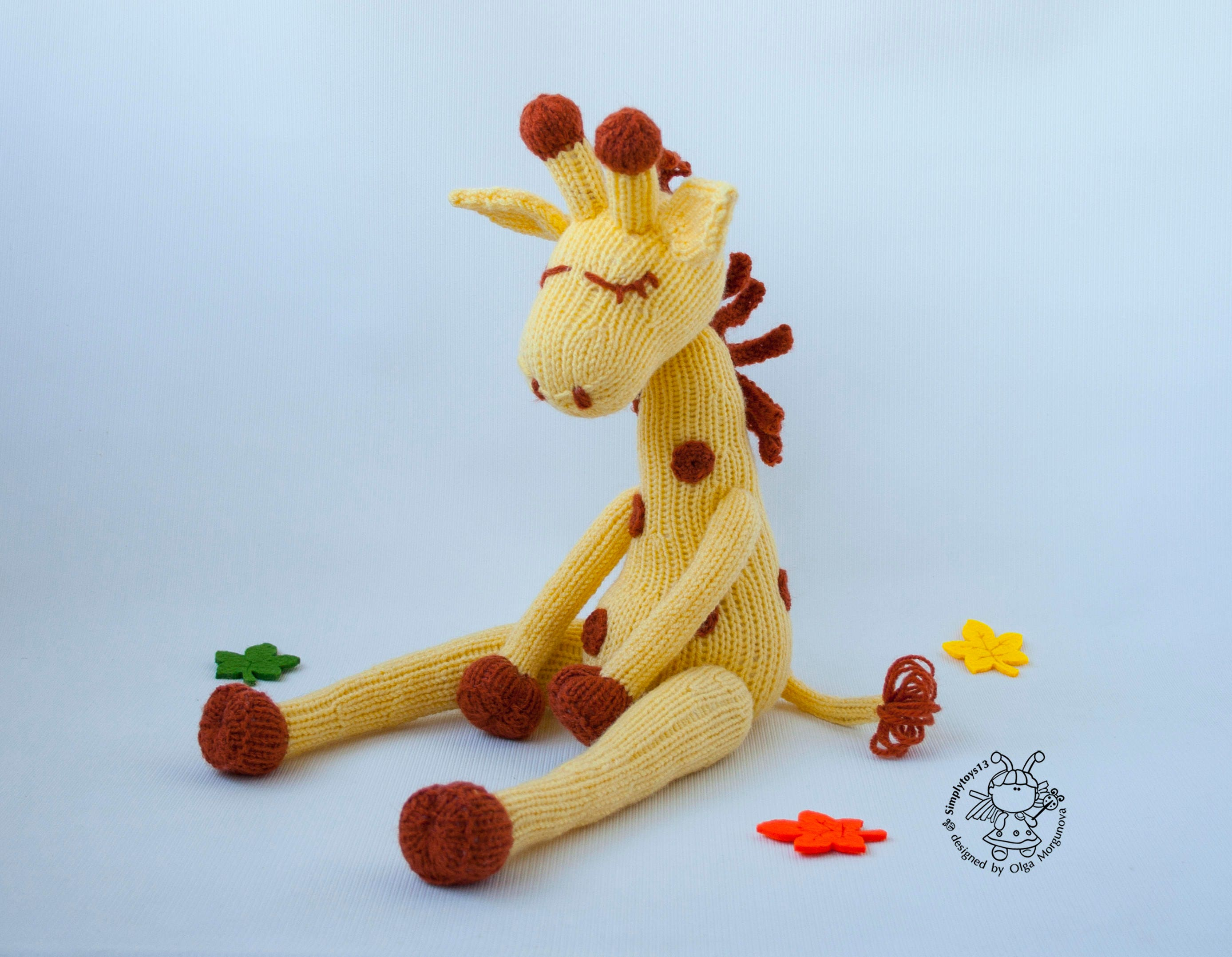 giraffe toy for baby amigurumi softie giraffe instant. Black Bedroom Furniture Sets. Home Design Ideas