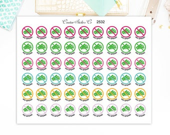 No Spend Stickers, No Spending Planner Stickers – Will fit any planner - 2532