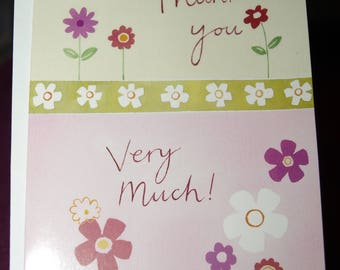 Pack of 5 Funky Flowers Thank You Notecards