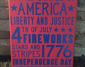 Fourth of July Canvas Art