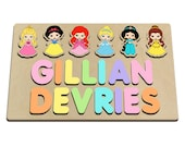 Princess Personalized Wood Name Puzzle Custom Made Puzzle For A Girl Large Pieces Great Birthday, Christmas and Baby Shower Gift 486823431