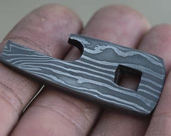 Damascus Keychain Bottle Opener