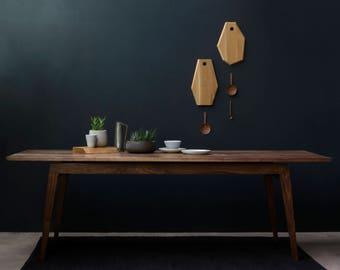 Signature Walnut Dining Table, [Bespoke sizes!] kitchen minimal, mid century