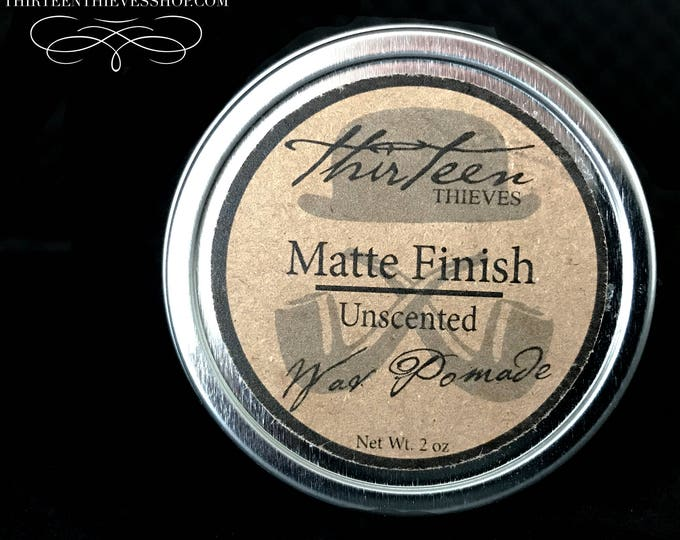 Matte Wax Pomade 2 or 4 oz Tin