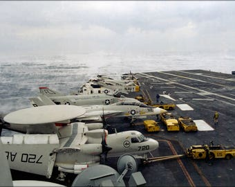Poster, Many Sizes Available; Uss Independence (Cv-62) E-2C Hawkeye Sh-3H F-14A F-4S