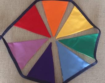 REVERSIBLE rainbow bunting