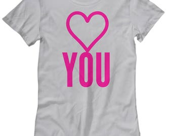 Heart You Tee, Funny Heart Tee, Gift for Daughter