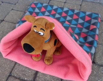 Pet Snuggle Bag Sleep Sack Bed Cuddle Dog Cat Burrow Sleeping Bag Bedding Triangle Fabric