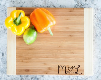 """11"""" by 14"""" Personalized Bamboo Cutting Board - by urban forest woodworking"""