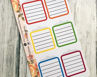 Clipboard Planner Stickers