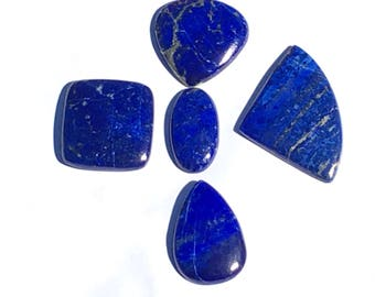 5 pcs of Lapis Lazuli cabochons 170cts