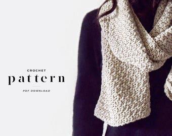 TEXTURED SCARF / crochet pattern, crochet scarf pattern, textured scarf pattern, open ended crochet scarf pattern