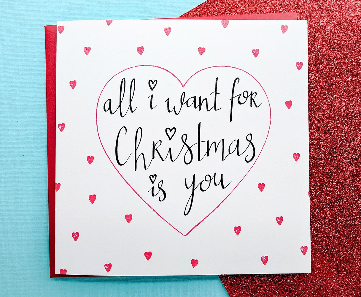 All i want for christmas card romantic girlfriend christmas card all i want for christmas card romantic girlfriend christmas cardboyfriend christmas card kristyandbryce Image collections