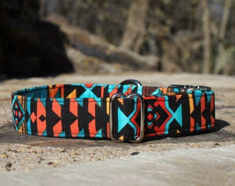 Southwest Collar, Male Dog Collar, Large Dog Collar, Pet Collar, Dog Collar, Metal Buckle, Female Dog Collar, Small Dog Collar