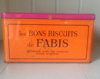 French Biscuits Advertising Tin 'Fabis'/Large Tin/