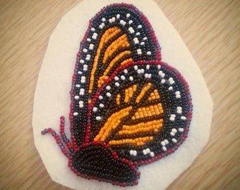 Monarch Butterfly Beaded Aplique