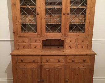 Farmhouse Solid Pine Welsh Dresser In Good Used Condition
