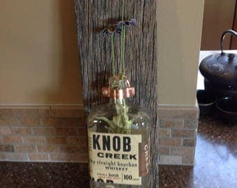 Rustic Whiskey Bottle Sconce