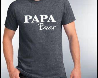 Papa Bear Tshirt, Husband and Wife Shirt, Hubby tshirt, Dad Tee Daddy, Papa Bear T-shirt