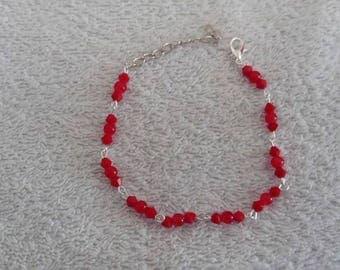 Bracelet perles rouge / bead red