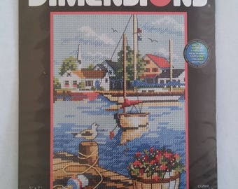 Dimensions Dockside View Counted Cross Stitch Kit
