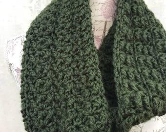 Textured Crochet Infinity Scarf
