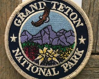 LAST ONE! Grand Teton National Park Vintage Souvenir Travel Patch