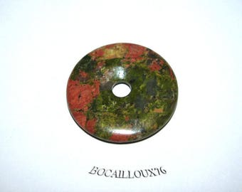 Pi UNAKITE pendant 9 d. 30 - stone of PROTECTION - for CREATION