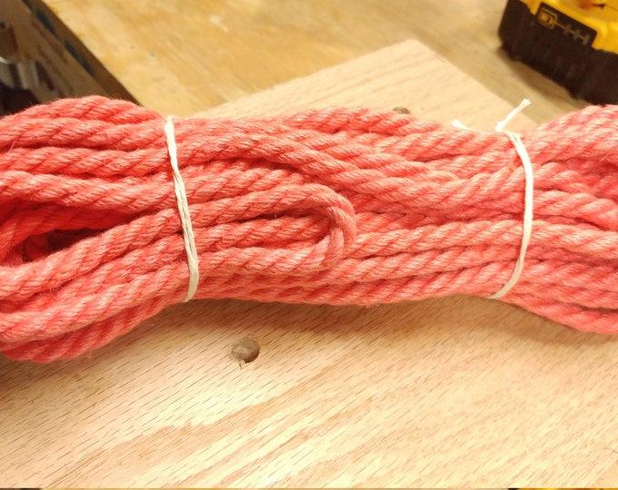 Featured listing image: In Stock Hemp Bondage Rope Shibari Rope