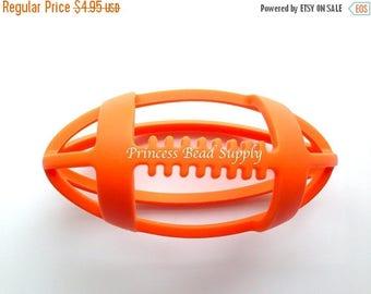 SALE Orange Football Silicone Teether,  Football Teether,  100% Food Grade Silicone, Sensory Teether,  Silicone Teether