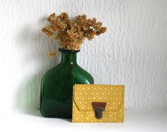 Small portfolio Collection Asanoha mustard